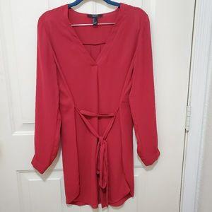 Forever 21 Red Sheer Dress